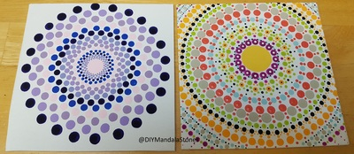 different designs diy mandala stones